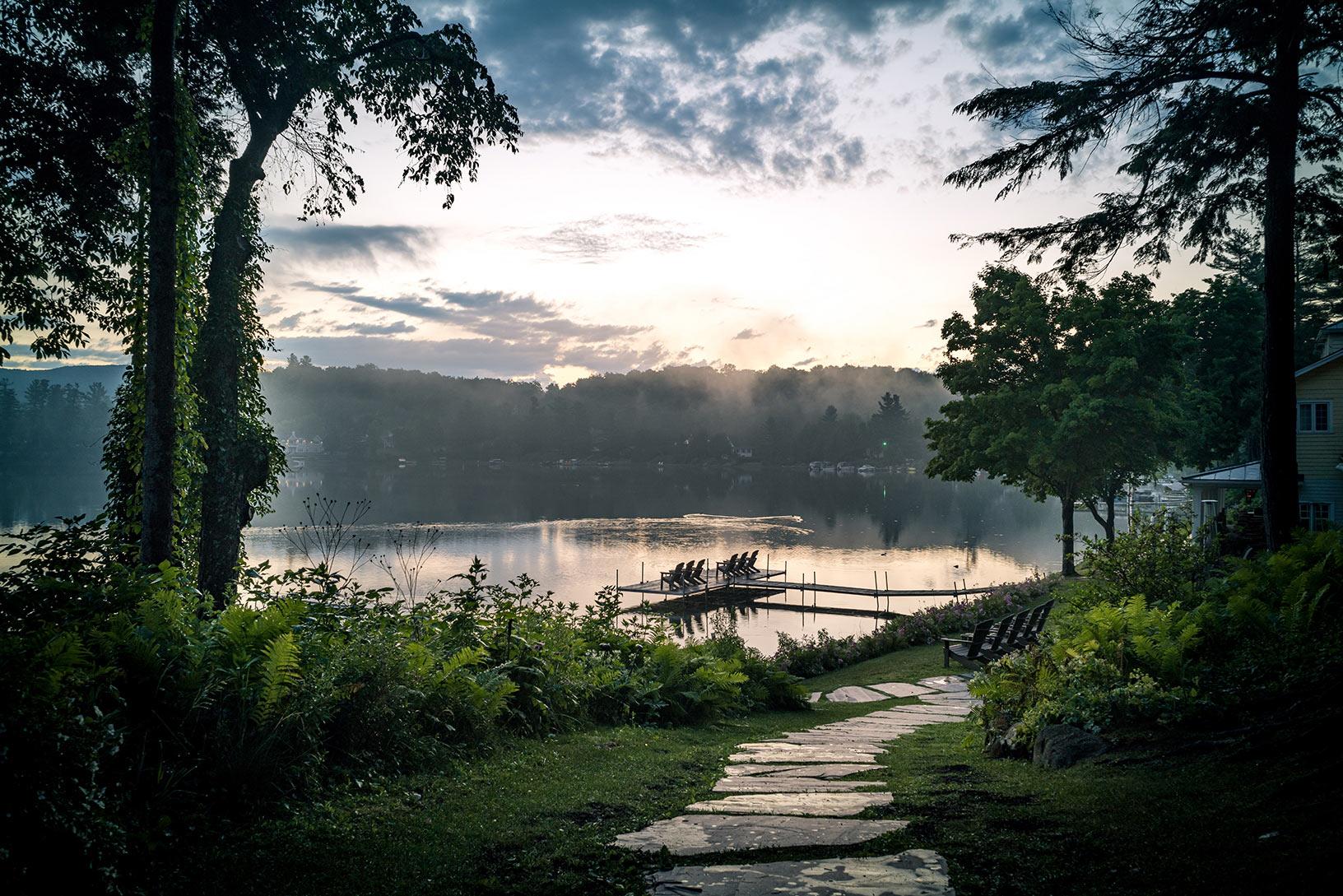 Vue du Ripplecove sur le lac Massawippi